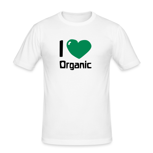 I love Organic Slim Shirt - Men's Slim Fit T-Shirt