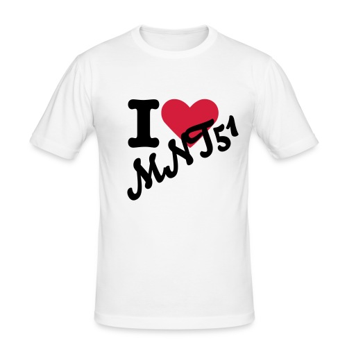 I love MNT51. - Männer Slim Fit T-Shirt