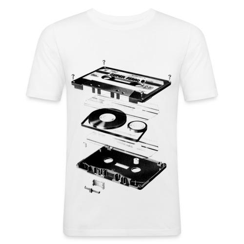 Compact Cassette- Tape - Music - T-shirt près du corps Homme