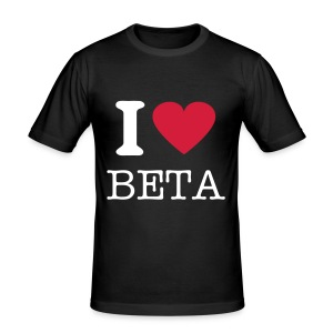 I Love Beta Slim - Männer Slim Fit T-Shirt