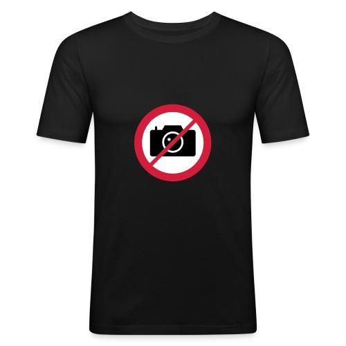 Panneau No Photo - T-shirt près du corps Homme