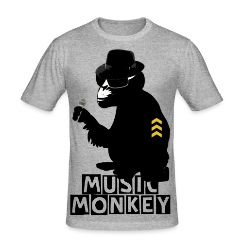 RAVER MONKEY - Männer Slim Fit T-Shirt