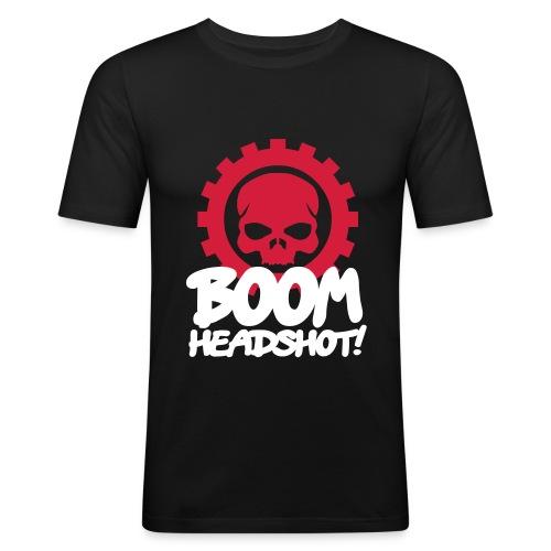 Boom Headshot - Men's Slim Fit T-Shirt