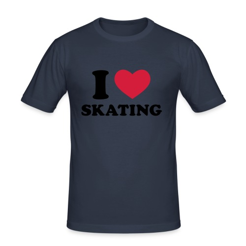 i love skating MEN FiT - Männer Slim Fit T-Shirt