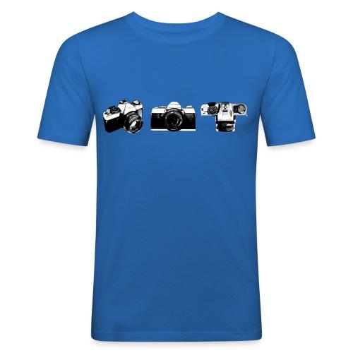 T-shirt met camera print - slim fit T-shirt