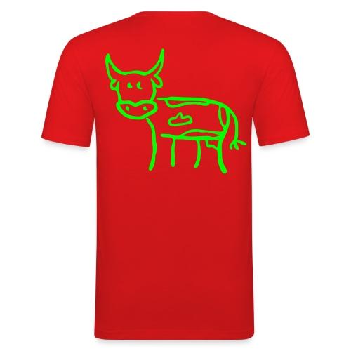 t shirt homme(vache) - T-shirt près du corps Homme