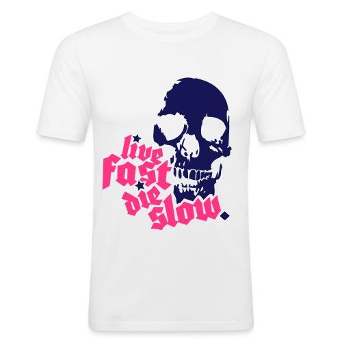 Skull live fast - T-shirt près du corps Homme