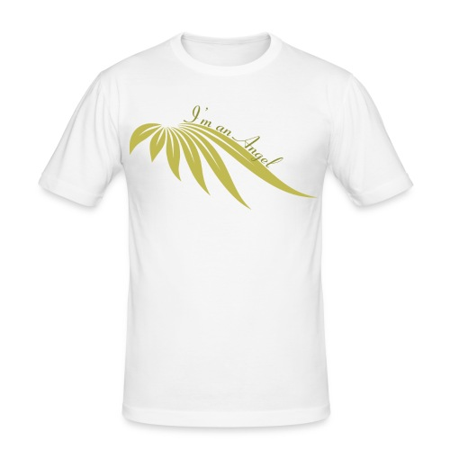 I am an angel Blanc/ Or - T-shirt près du corps Homme