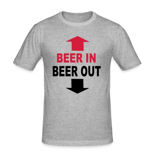 T-shirt Beer in Beer out (homme) - T-shirt près du corps Homme