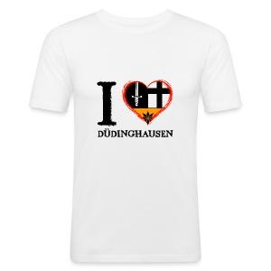 Männer Slim Fit T-shirt: I love - gekrikelt - Männer Slim Fit T-Shirt