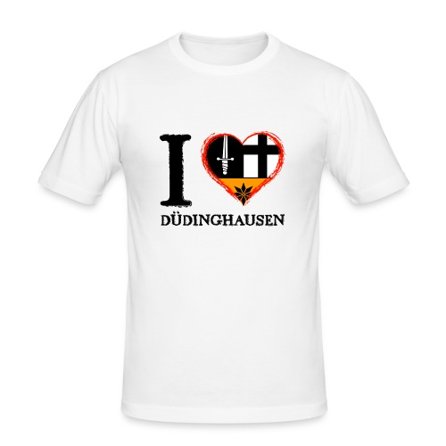Männer Slim Fit T-shirt: I love - gekrikelt - Männer Slim Fit T-Shirt