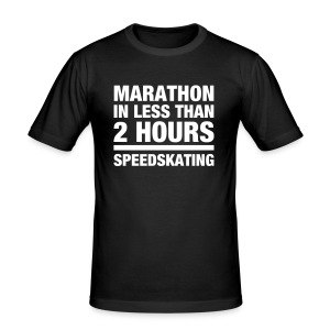 Marathon in less than 2 hours  (slimfit) - Männer Slim Fit T-Shirt