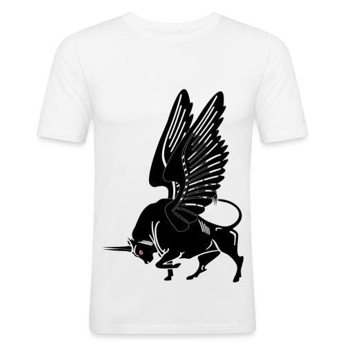 ange, taureau et moto  - T-shirt près du corps Homme