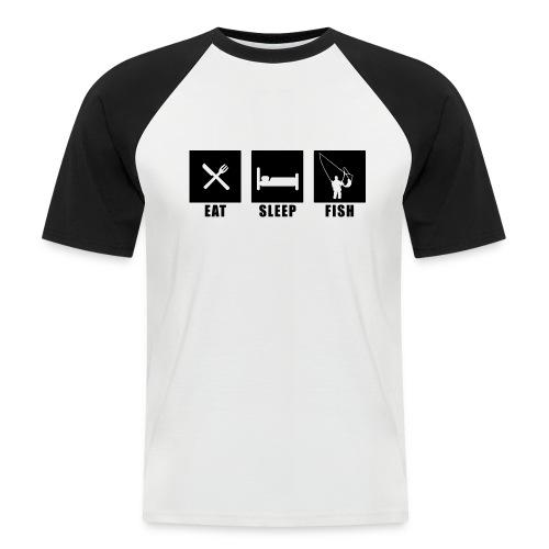 EAT SLEEP Fish - Männer Baseball-T-Shirt