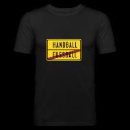 T-Shirts ~ Männer Slim Fit T-Shirt ~ Ortsschild | Männer T-Shirt