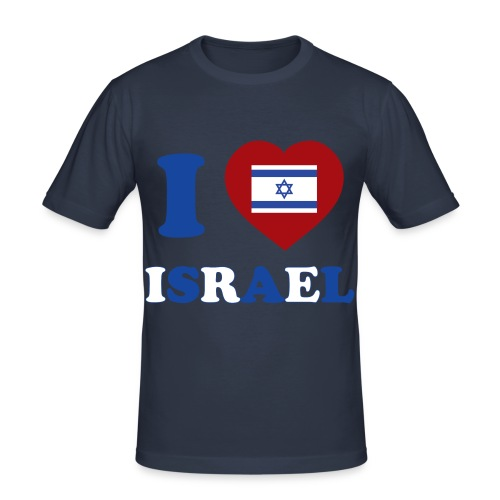 I <3 Israel T-shirt - T-shirt près du corps Homme