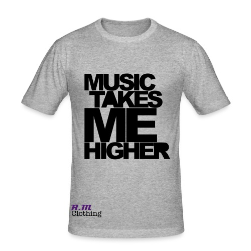 A.M Clothing Music Takes Me Higher Tee - Men's Slim Fit T-Shirt