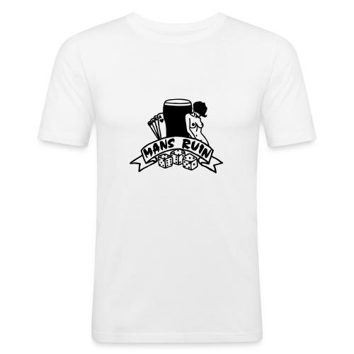 Mans Ruin PinUp Girl Sex Drugs Rock'n'Roll - Männer Slim Fit T-Shirt