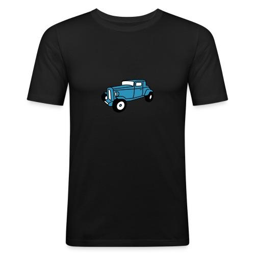 Hot Rod Oldtimer 1 - Flockdruck - Männer Slim Fit T-Shirt