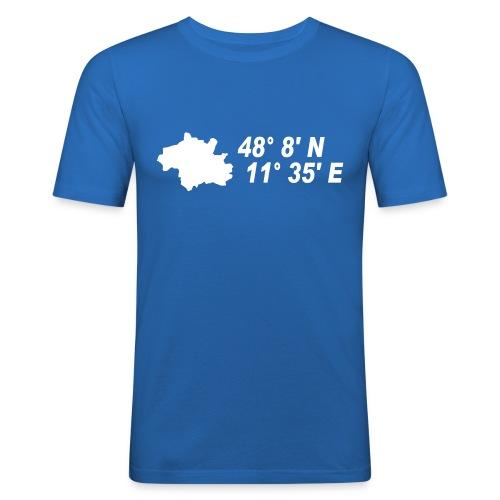 München Koordinaten T-Shirt - Männer Slim Fit T-Shirt