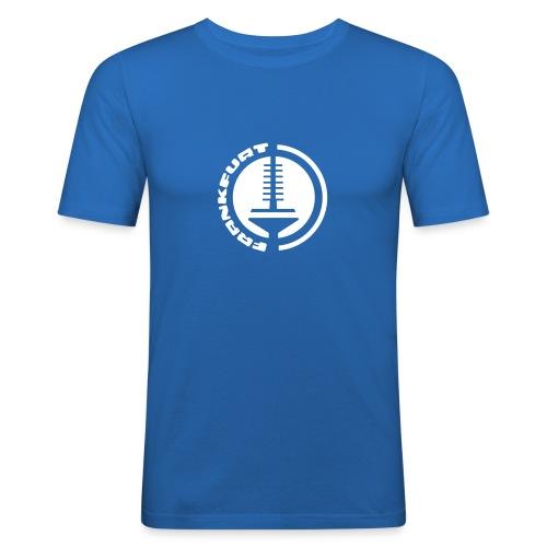 Frankfurt Fernsehturm Emblem T-Shirt - Männer Slim Fit T-Shirt