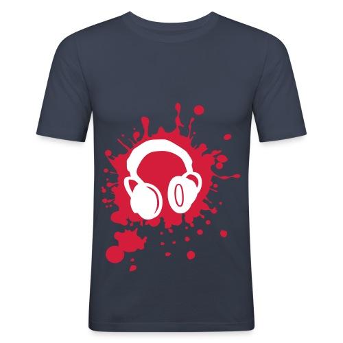 slim fit music splat tee - Men's Slim Fit T-Shirt