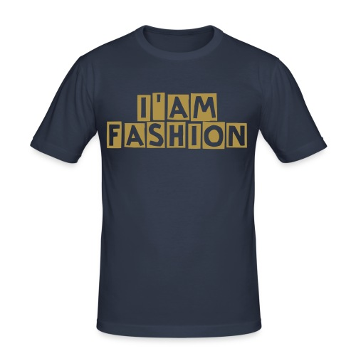 I'am fashion gold cube - T-shirt près du corps Homme