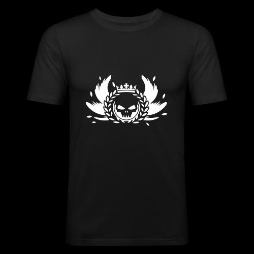 Schädel mit Krone Shirt - Männer Slim Fit T-Shirt