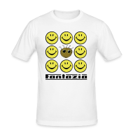 T-Shirts ~ Men's Slim Fit T-Shirt ~ Fantazia & 9 Smilies Mens T-shirt