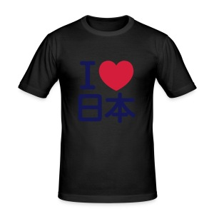 I LOVE JAPAN - Men's Slim Fit T-Shirt