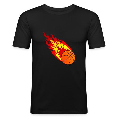 Fireball Shirt schwarz - Männer Slim Fit T-Shirt