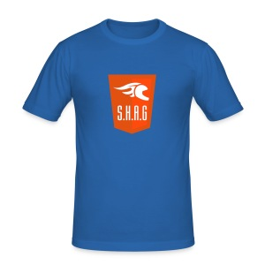 Shag logo dec 11 - blue - Slim Fit T-skjorte for menn