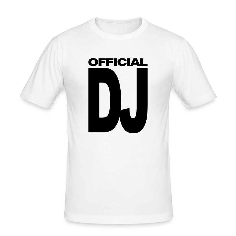 Official DJ t-shirt - Men's Slim Fit T-Shirt