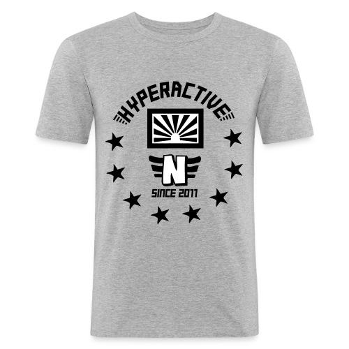 hyperactive slimtee flock - Männer Slim Fit T-Shirt