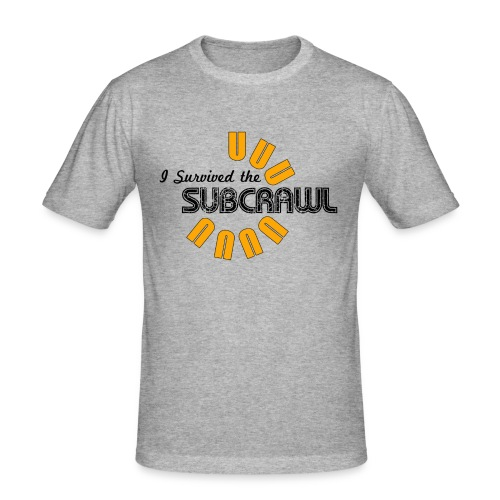 I Survived the Subcrawl - Men's Slim Fit T-Shirt