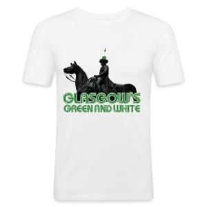 Glasgow's Green & White - Men's Slim Fit T-Shirt