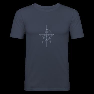 pentagram, vijf sterren, pentagram, spiraal, alchemie, magie, heksen, magie, karakter, fibunacci, kompassen, gothic, heidense T-shirts