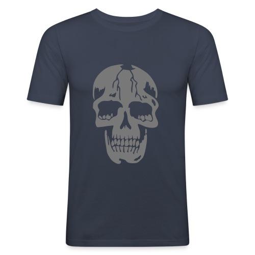 Shirt silver skull - Männer Slim Fit T-Shirt