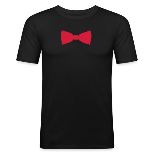 Glamour sløyfe sort - Slim Fit T-skjorte for menn