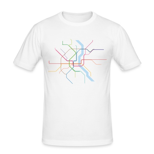 Subway Cologne - Männer Slim Fit T-Shirt