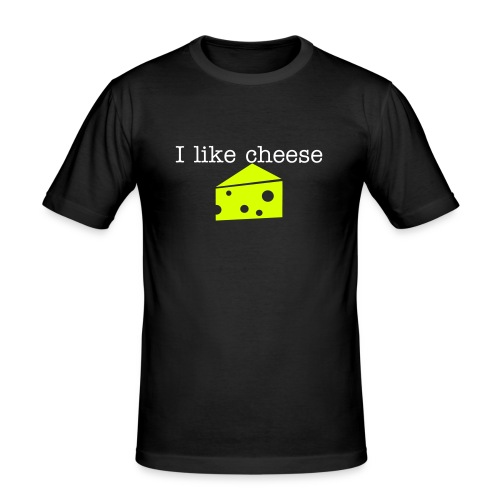 I like cheese - Men's Slim Fit T-Shirt