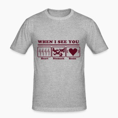 When I see you - Heart/Stomach/Brain = Chaos T-Shirts
