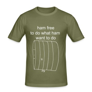 Ham Free - Men's Slim Fit T-Shirt