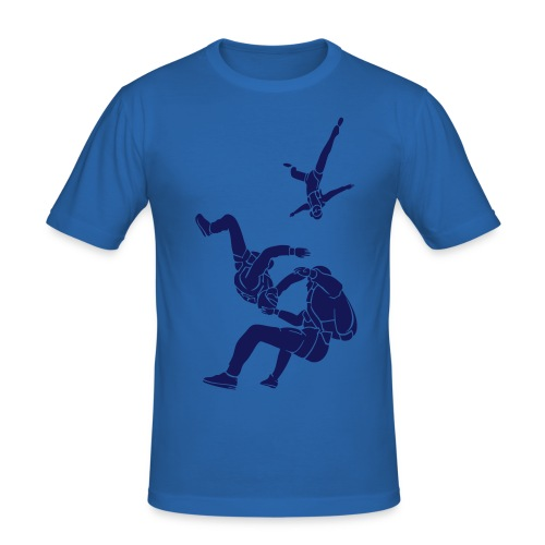 Blue Freefall - Men's Slim Fit T-Shirt