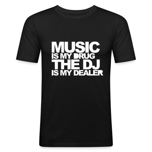 MUSIC DEALER - Männer Slim Fit T-Shirt