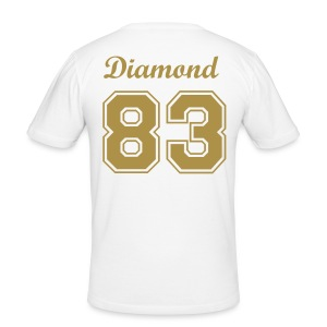 Diamond 83 White/Gold - Men's Slim Fit T-Shirt