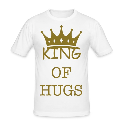 King of hugs slim fit tee shirt - Men's Slim Fit T-Shirt