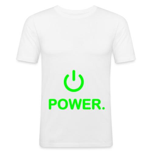 Power Fan Tshirt - Männer Slim Fit T-Shirt