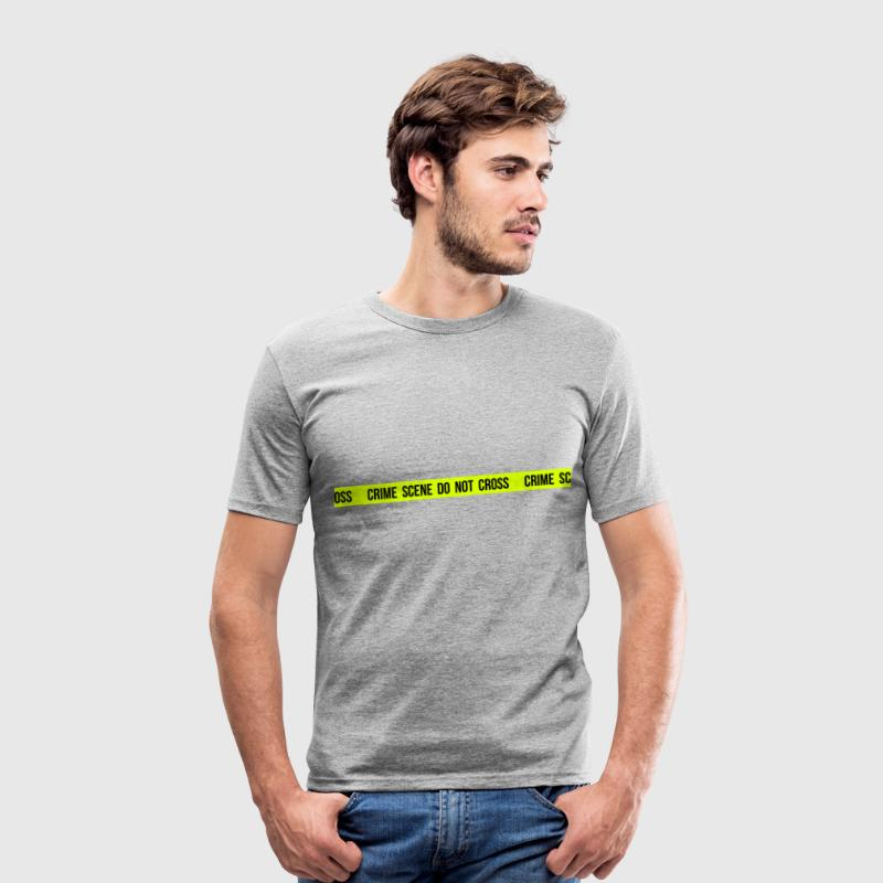 Crime scene do not cross - Tee shirt près du corps Homme