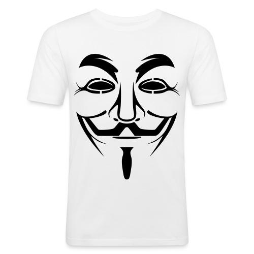 T-Shirt Anonymous white - T-shirt près du corps Homme